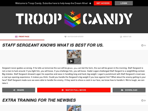 Join Troopcandy For Free