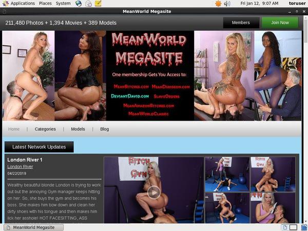 Meanworld.com Login Ids